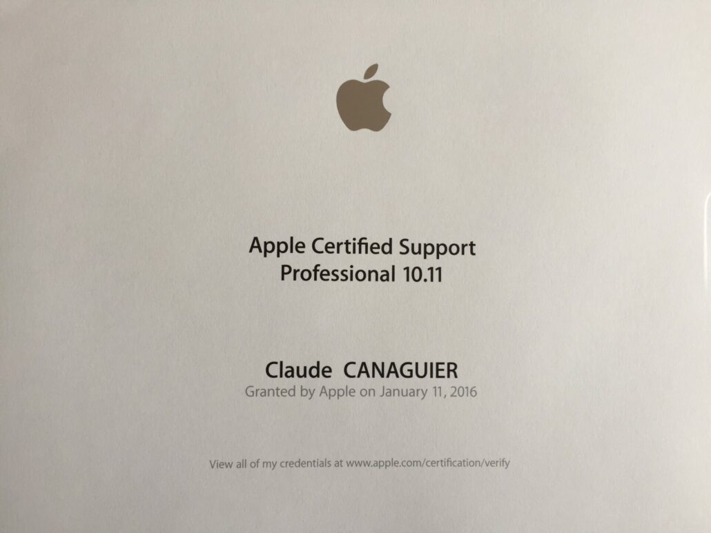APPLE CERTIFIED SUPPORT PROFESSIONAL 10.11